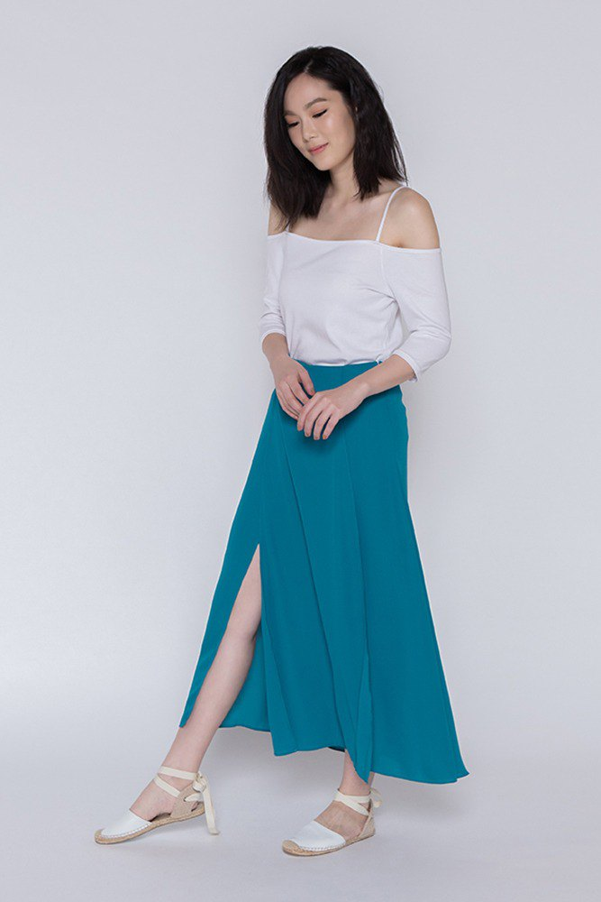 Good Time Folding Dress One Fine Day Overlap Maxi Skirt