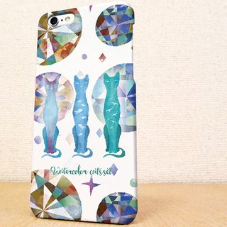 Free Shipping ☆ iPhone case GALAXY case ☆ WaterColor Cats phone case