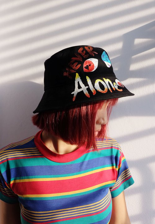 harajuku style GothicWeird original illustrations Bucket Hat/ order production