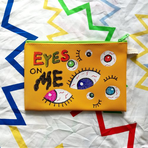 Hand-painted Clutch Bag : EYES ON ME