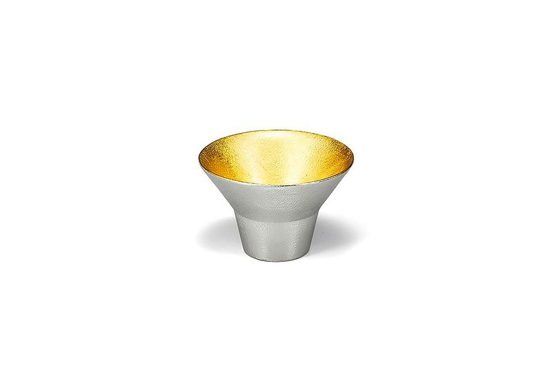 Pure Tin Gold Foil Wedding Cup (I)