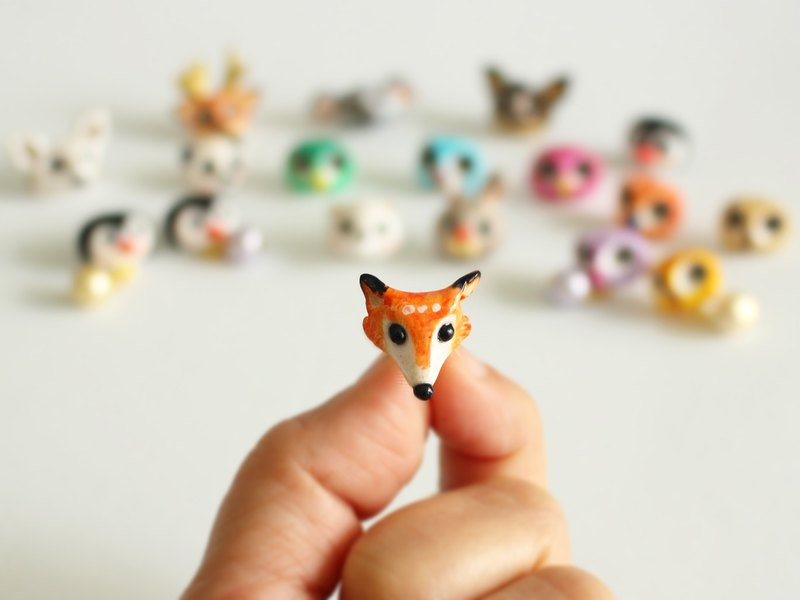 Fox Stud Earrings Ear Clips
