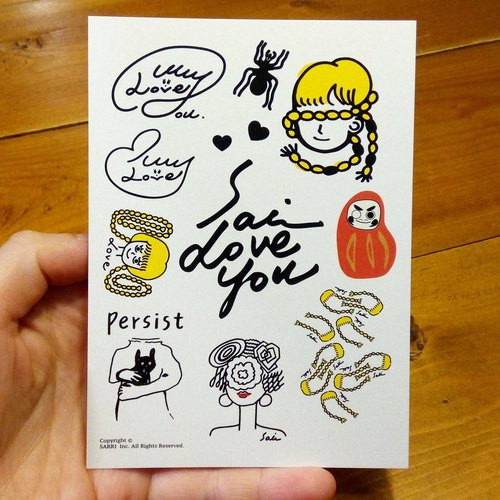 Love group (can create A3 size posters) Birthday Card Design Coloring Illustrator Picture Card Universal Card Art Love Special Funny Strange Feature Weird Cute Taiwan Playable