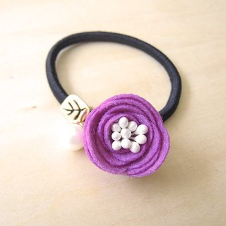 RARAPUPU flowers pearl hair circle purple