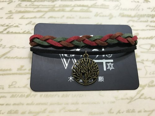 """Wishing Jupiter"" - Wishing Tree - hand-woven rope bracelets Korean custom suede"