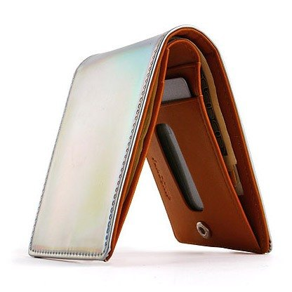 Korea Socharming- silver psychedelic fold short clip HIDDEN CARD WALLET