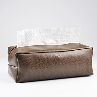 Rectangle Tissue Box Cover, Facial Tissue Holder, Soft Touch, Dark Grey