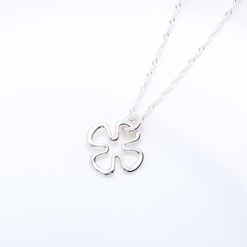 Infinity Happiness Clover s925 sterling silver necklace Valentine's Day gift