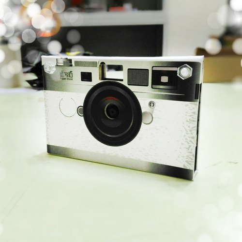 Paper Shoot paper creative paper camera can shoot digital camera Lomo retro exchanging gifts included 4GB SanDisk MicroSD memory card brand Taiwan four kinds of effects (simulation camera white)