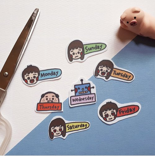 CHIH HSIN-week sticker