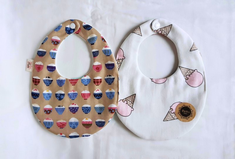 Rice ice cream ice cream - eight layers of yarn 100% cottonAB egg bibs