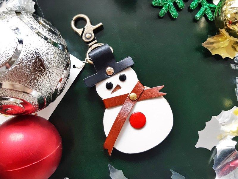 雪人 繞線器 鑰匙圈 好好縫 皮革 材料包 聖誕禮物 意大利植鞣