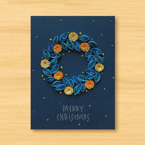 Hand-rolled paper card three-dimensional volume _ Star Series - flowers roaming Christmas wreath ..... Christmas card, Christmas, Christmas wreath