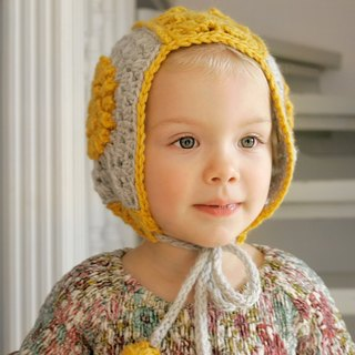 Organic baby hat, winter hat, baby bonnet, organic baby hat, yellow wool hat,