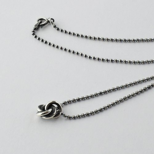 Minowa + (L) necklace = silver 925 necklace =