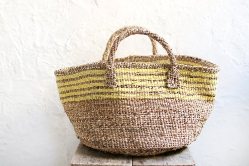 OMAKE African Banana Bark X Sisal Knit Pack (Yellow)