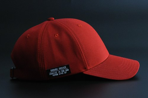 ENDURE side mark / wine red old hat