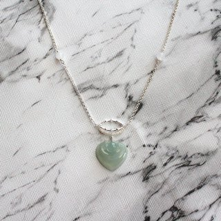 Journal- Looking for pure natural ice and fine jade (Burma jade) Freshwater pearl + small wishful sterling silver necklace