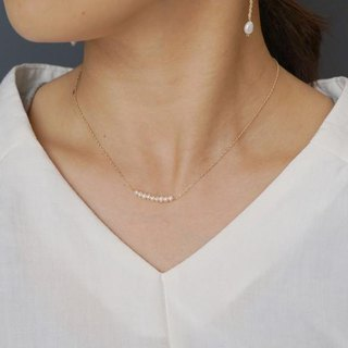 Freshwater Pearl Line Necklace