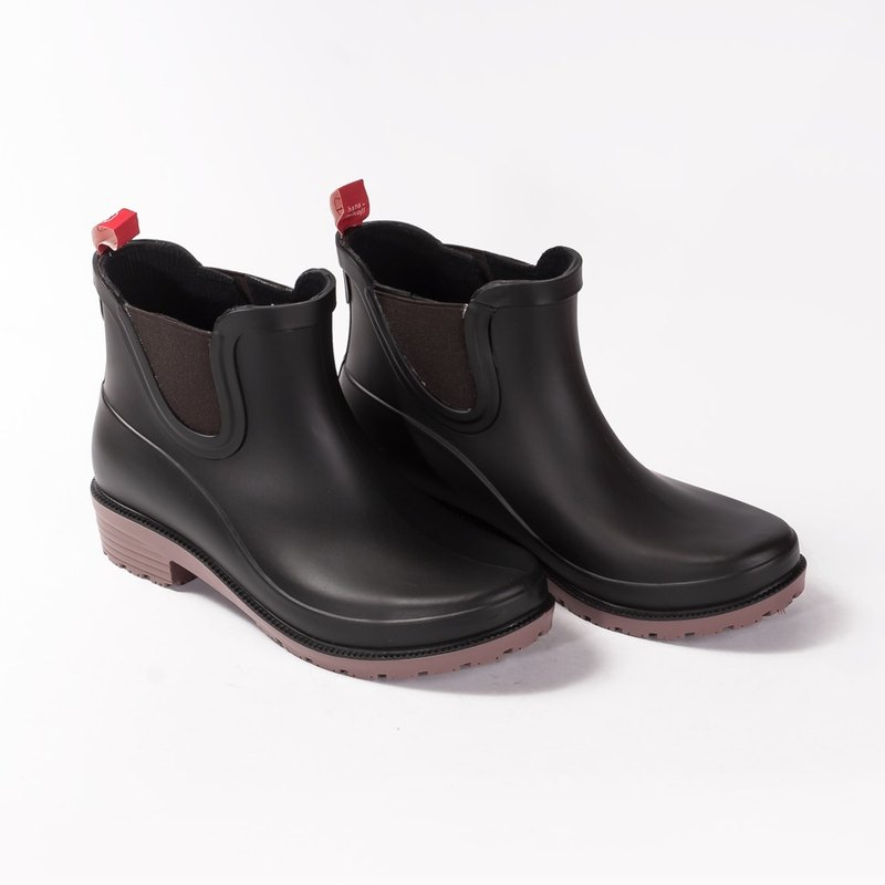 hanamikoji shoes ankle rainboots woman black