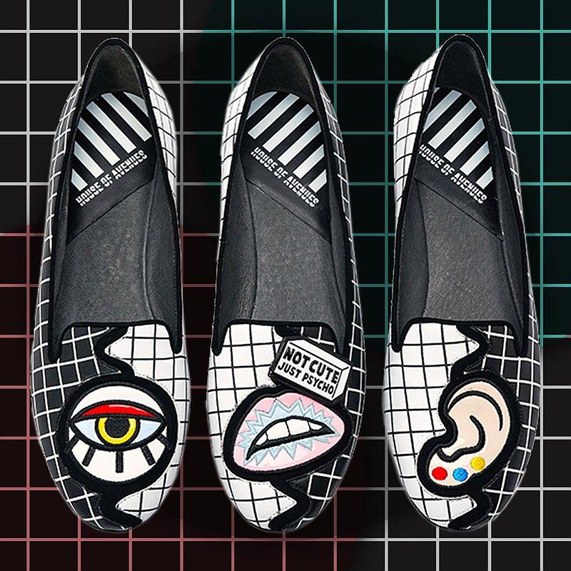 | HOA | 小圓頭電繡拼接3隻平底鞋 | 黑色 | 5231 |