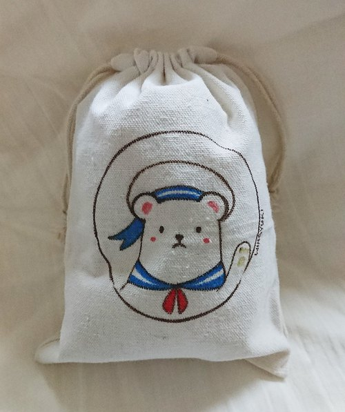 Hand-painted beam pocket sailor bear pocket
