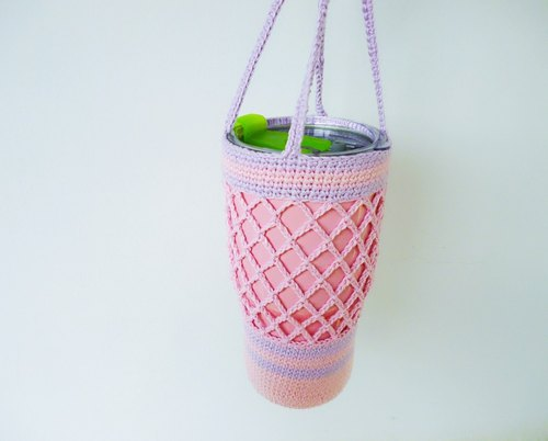 Romantic powder basket empty cotton crocheted woven bags bags of water bottles