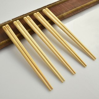 Dipper natural eucalyptus without coating chopsticks -10 double