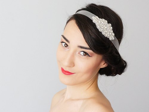 Clothing Gift Rhinestone Bridal Headband Bridal Headpiece Crystal Headband Retro Headband Wedding Accessories Bridal Accessories / MUSE