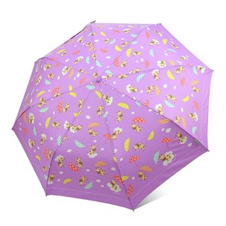 [Taiwan's Creative Rain's talk] Ikura live anti-UV tri-fold automatically open umbrella (cloud cow)