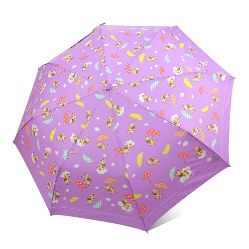 [Taiwan Wen Chong Rain's talk] Pastoral music live anti-UV three fold automatic open umbrella (cloud cattle)