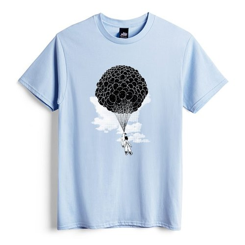Into space - light blue - Unisex T-Shirt