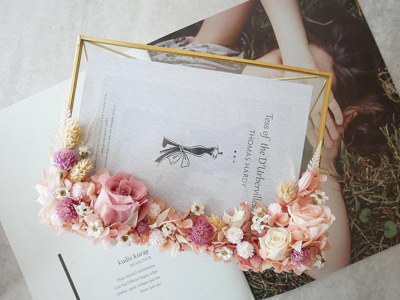 不凋玫瑰相框【珍藏】新婚禮物/簽名桌擺飾/婚禮佈置diy