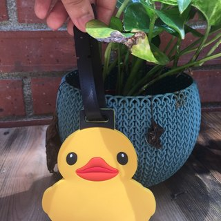 Official yellow duckling luggage tag