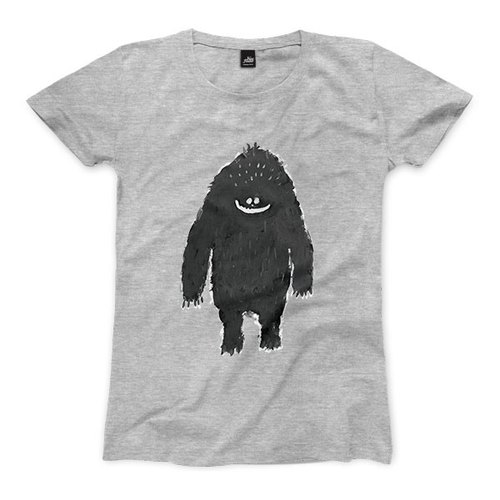 Mountain male - deep gray ash - female version of T-shirt