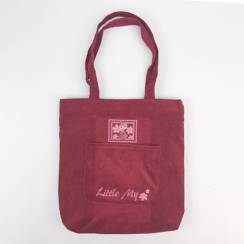 Moomin Authorization - Corduroy Tote (Red)