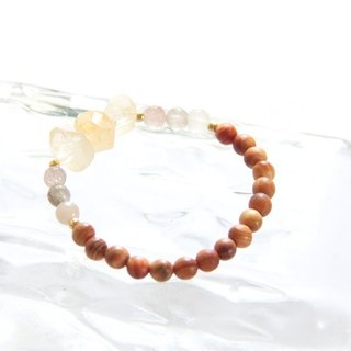 Fashion Energy Jewellery Collection - Citrine & Blood Dragon Mussel Bracelet/Citrine & Agathis alba bracelet