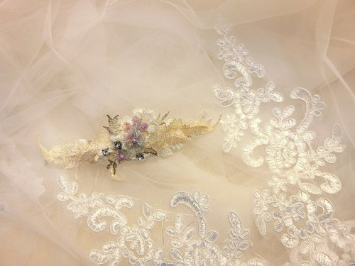 Classical elegant rhinestone lace elastic clip - Collection
