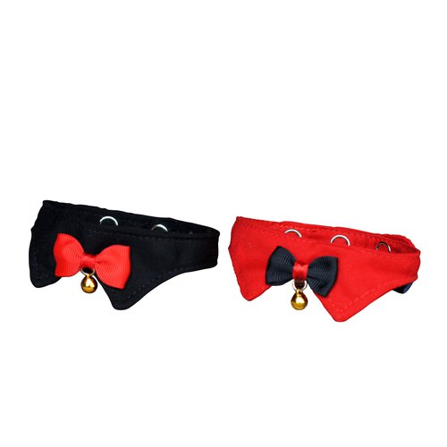 Cat pet collar plain red / plain black double package 95% off 380 yuan