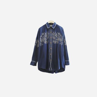Dislocation vintage / plant embroidery shirt no.918 vintage
