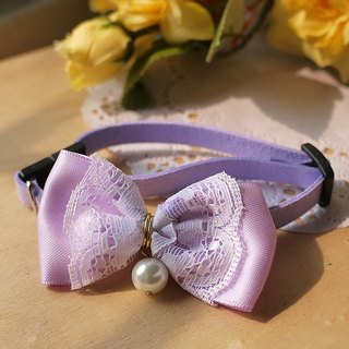 """Lavender Purple"" Lace ribbon bow pearl ︱ safe hands to do cats and dogs pet collar / collar / hair accessories cherry pudding Cherry Pudding ♥ ♥"