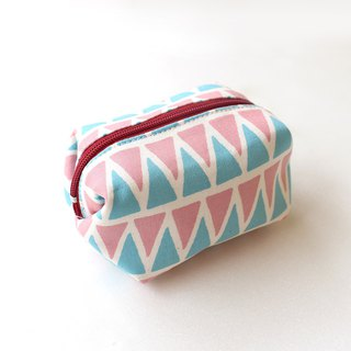 Triangle contrast color coin purse / storage bag