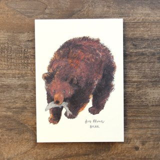 Postcard Big Brown Bear