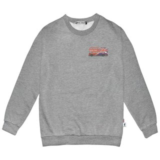 British Fashion Brand -Baker Street- Routemaster Printed Sweater