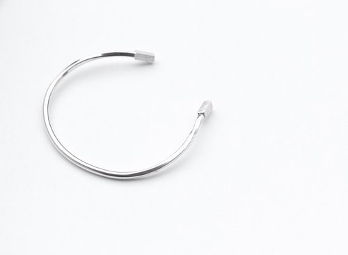 SUZANNE LAU⎮ simple lines series ⎮ Silver ⎮plain bangle bracelet