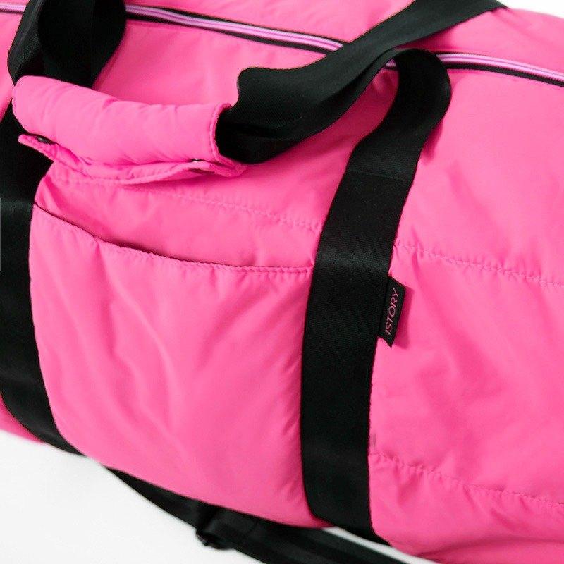 圓筒背包.桃紅╳黑