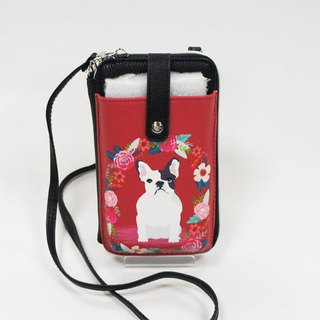 Red Rose Lawrence Childlike Cell Phone/Wallet Dual-purpose Oblique Backpack In Stock - Aishi Li