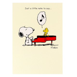 Snoopy Plays Piano Thanks You [Hallmark-Peanuts Snoopy - Card Infinite Thanks]