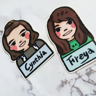 / Hello, this is me / customized portrait name sticker