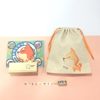 Good bag-2018 desk calendar + paper tape + firewood dog pocket - blessing bag